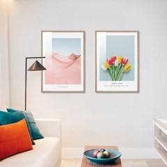 핑크사막 튤립 모란꽃 30종 북유럽감성 인테리어그림액자