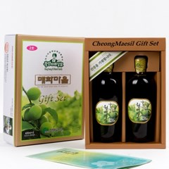 홍쌍리 유기농매실 매실청 선물세트2호(420ml*2)