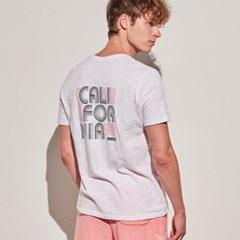 아르고 캘리포니아 반팔 티셔츠 상의 화이트