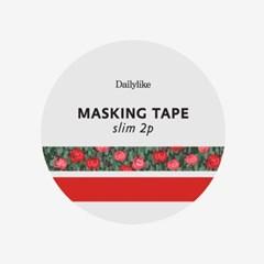 Masking tape slim 2p - 14 Flower