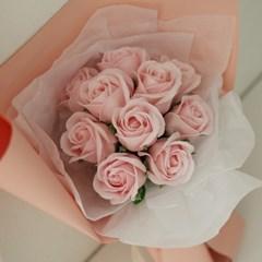 비누꽃 장미꽃다발 (10송이) [5color]_(665904)
