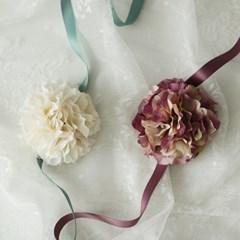 브라이덜샤워 꽃팔찌-프렌치수국 [2color]_(665889)