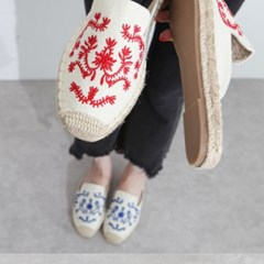 kami et muse Color embroidery espadrille slippers_KM19s348