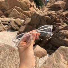 unisex 투톤 패션 하금테 안경(2color) 9525