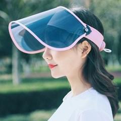 초경량 360도 휴대용 햇빛차단 전면 여성 돌돌이썬캡