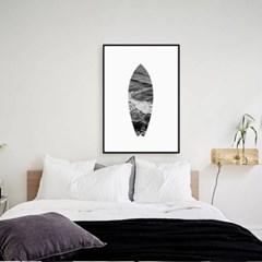거실액자 모던 인테리어 흑백사진 서핑보드