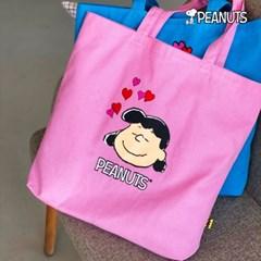 [Peanuts Bag&Acc]루시 자수에코백(Lucy Echo bag)_(1732532)