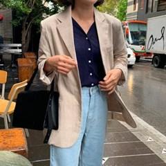 소프트 컬러 체크 jacket (2color)