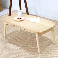 고무나무 100%원목 접이식 거실 좌식 테이블-피넛