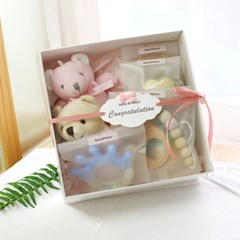 [출산 백일선물] 딸랑이7종_토이셀렉션 1호_핑크 (출산선물)
