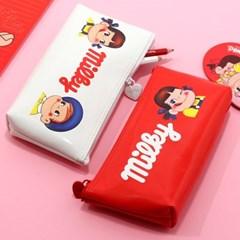 페코 에나멜 삼각 필통 화장품 파우치_(4049109)