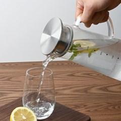 레벤호프 스텐 뚜껑 내열유리 냉장고 물병 물통 1.3L_(1360626)