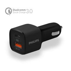 필립스 PD지원 18W 퀄컴고속 시가잭 충전기 DLP2558_(1067353)