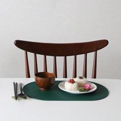 오브 실리콘 식탁매트 - 딥그린