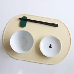 오브 실리콘 식탁매트 - 아이보리