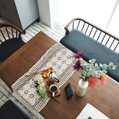 [채우리] 크레이프  6인 원목 1800 식탁 테이블