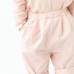 앰버 5부린넨 팬츠 핑크