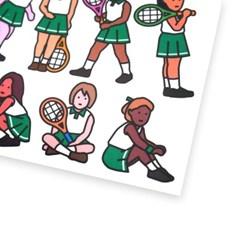 테니스 스티커 - girls