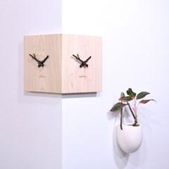 피톤치드가 솔~솔~ 편백나무 통원목 코너시계