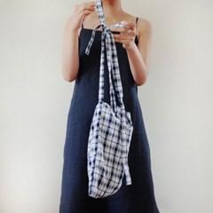 check knot bag_sky blue