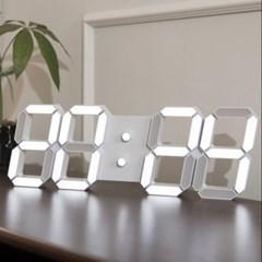 LED 3D 벽시계 화이트