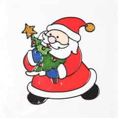 트리산타 글라스스티커 중 20cm 크리스마스 TRMBLS_(1389937)