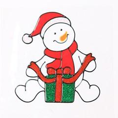 선물눈사람 글라스스티커 중 20cm 크리스마스 TRMBLS_(1389936)