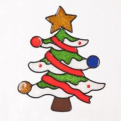 트리 글라스스티커 중 20cm 크리스마스 장식 TRMBLS_(1389935)