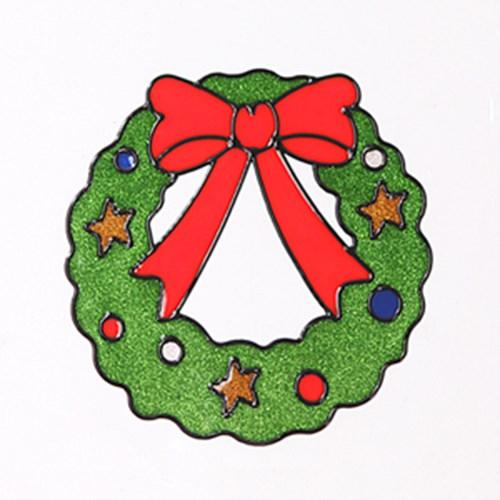 리본리스 글라스스티커 중 20cm 크리스마스 TRMBLS_(1389932)