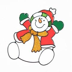만세눈사람 글라스스티커 대 20cm 크리스마스 TRMBLS_(1389930)