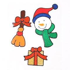 눈사람세트 글라스스티커 대 20cm 크리스마스 TRMBLS_(1389928)