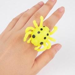 LED 할로윈 젤리반지 거미 [옐로우]_(11786282)