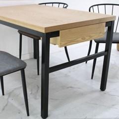 4인용 무늬목 1200x750 서랍형 40각하부 업소용테이블