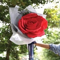 자이언트 로즈 한송이 꽃다발-꽃다발선물,장미선물,장미_(100810835)