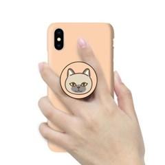 [T]고양이얼굴 스마트톡 3D하드 케이스