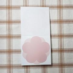 심플 분홍 오얏꽃 떡메모지 시리즈