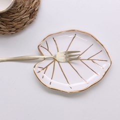 골드 연잎 접시 디저트접시