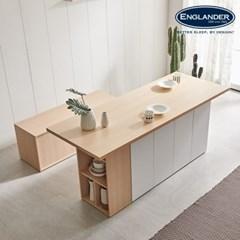 잉글랜더 돌체 아일랜드 6인용 수납 식탁(의자제외)