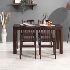 키요 고무나무 원목 식탁 세트 4인용 의자형 B_(1255148)