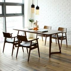 토슨 고무나무 원목 4인 와이드 식탁 세트 의자형_(1255140)