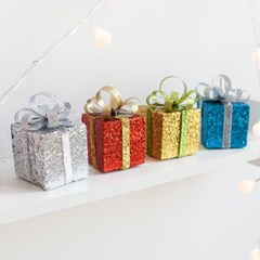 펀선물상자 6cm(4개입) 트리 크리스마스 소품 TROMCG_(1400606)