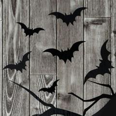 할로윈 박쥐 데코스티커 6개세트_(11790942)