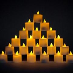 LED 티라이트 [황색] 점멸형 24개입_(11791063)