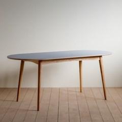[찰스퍼니처] 린 리놀륨 타원형 테이블 01_1800