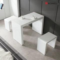 리치웰 하이그로시 모던 멀티일자 식탁 테이블 1000 (의자별도)