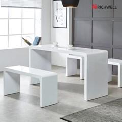 리치웰 하이그로시 멀티일자 식탁 테이블 1500 (의자별도)