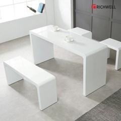 리치웰 하이그로시 멀티일자 식탁 테이블 1200 (의자별도)