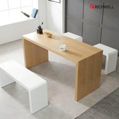 리치웰 천연무늬목 아벨 식탁 테이블 1500 (의자별도)