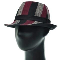 [더그레이]HMF08.와이드 스트라이프 페도라 남성 모자