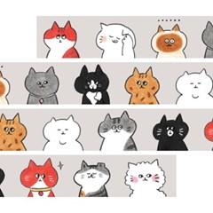 [버숨] 고양이 얼굴_마스킹테이프